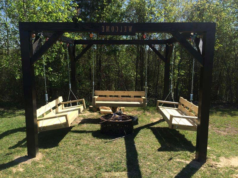 fire pit with swing - Google Search - Fire Pit With Swing - Google Search Garden And Outdoor Spaces