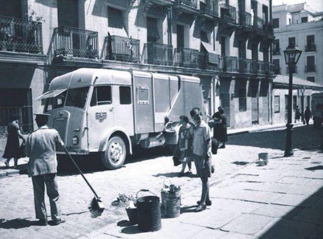 Camión de basura MADRID años 40