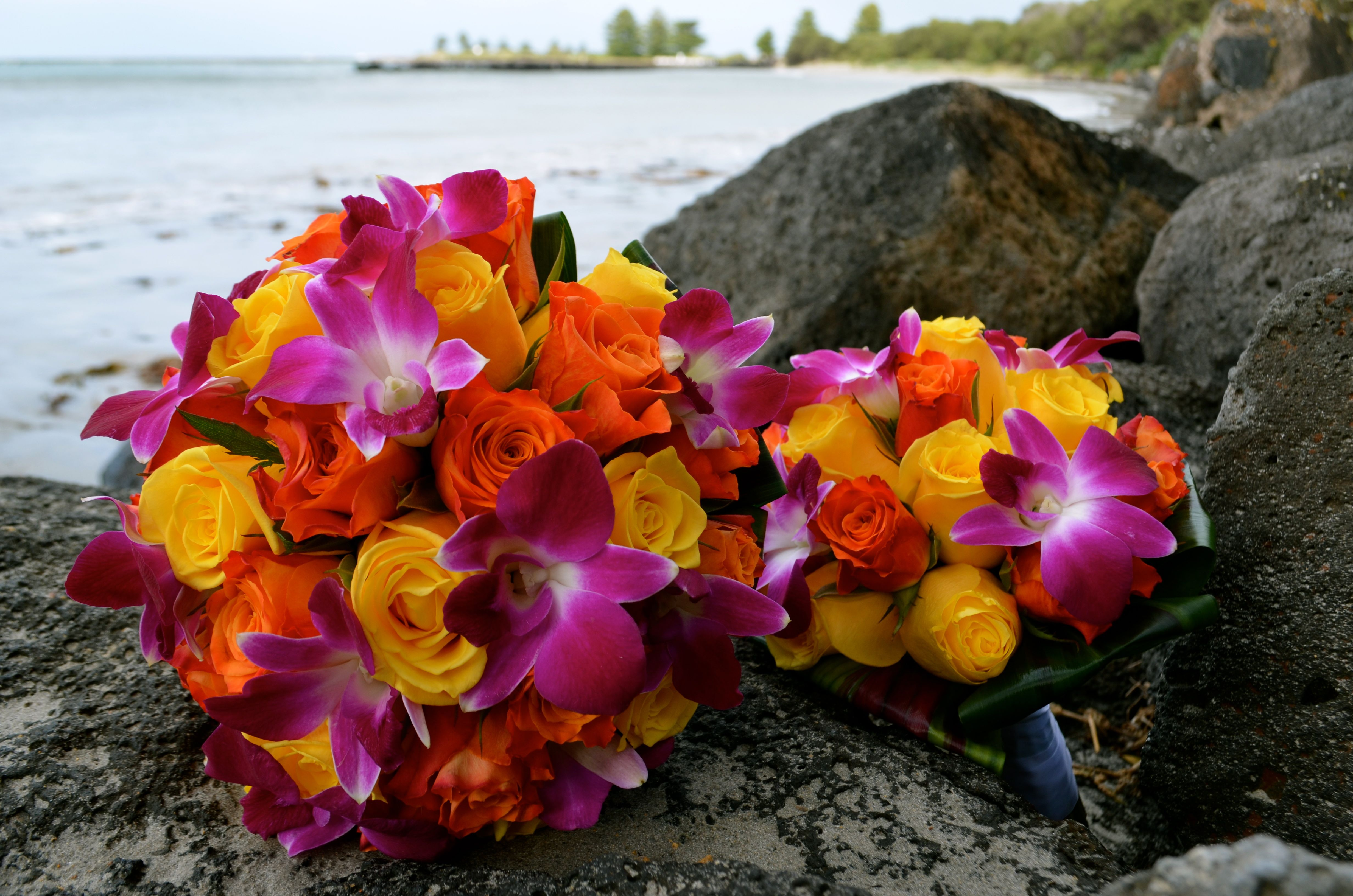 tropical beach themed bouquets