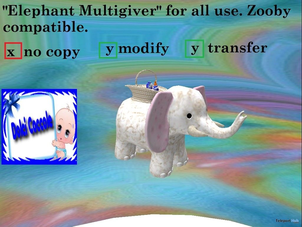 Elephant multigiver for zooby baby gift by dolci coccole teleport elephant multigiver for zooby baby gift by dolci coccole negle Gallery