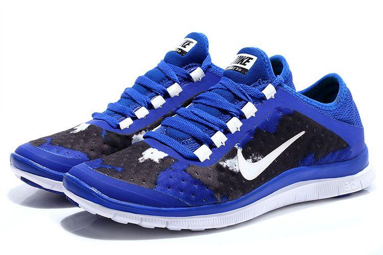 Nike Free 3.0 V7 Mens Bright Royal Blue Hyper White #Nike #Sneakers