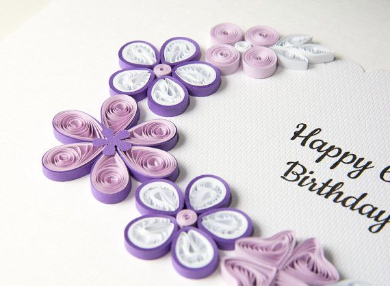 Unique 60th birthday card quilling paper filigree quilled flowers unique 60th birthday card quilling paper by paperparadisepl bookmarktalkfo Choice Image