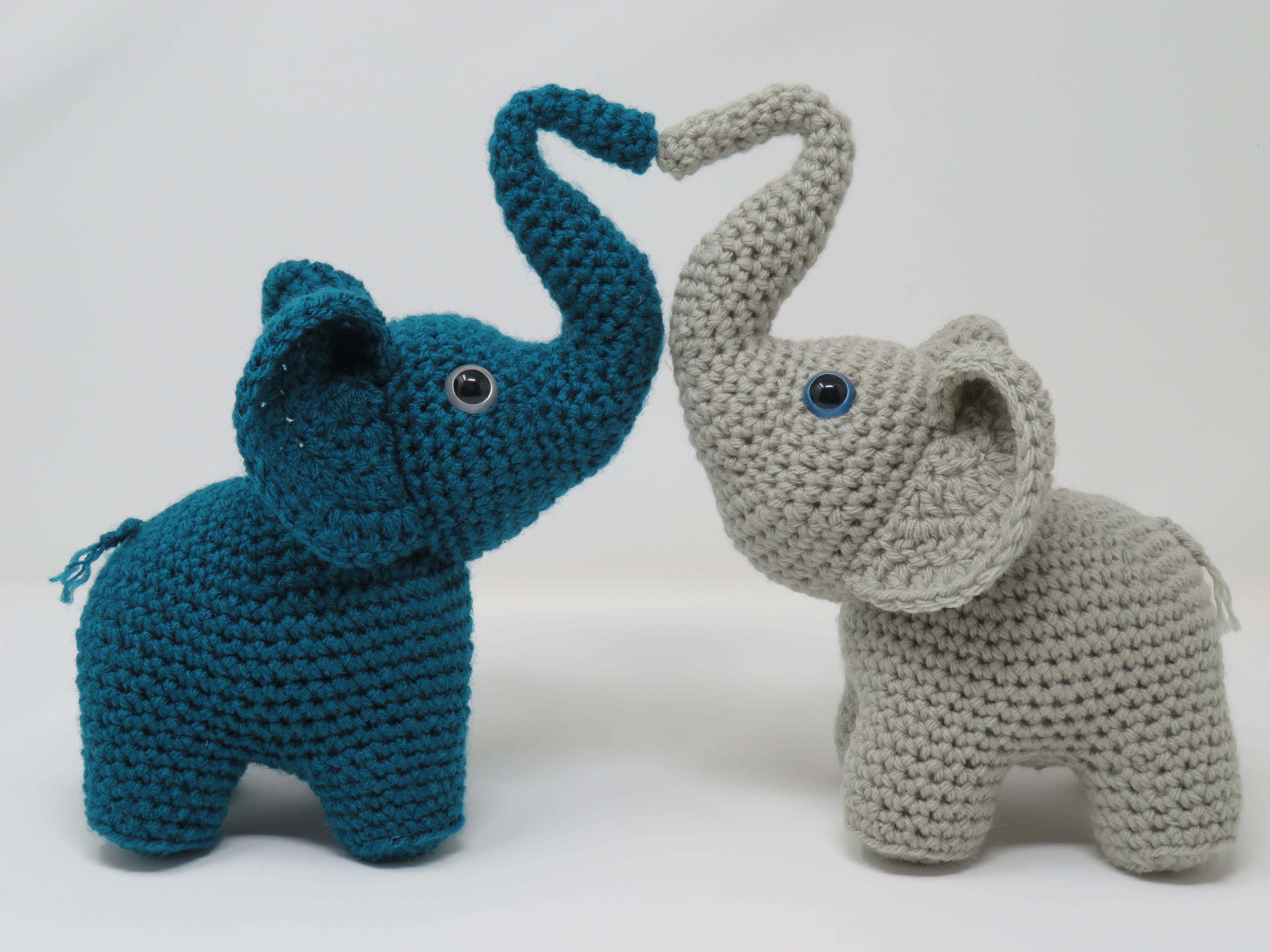Elephants In Love Premium Crochet Pattern Printable Hooked By Kati Free Crochet Pattern Crochet Patterns Love Is Free