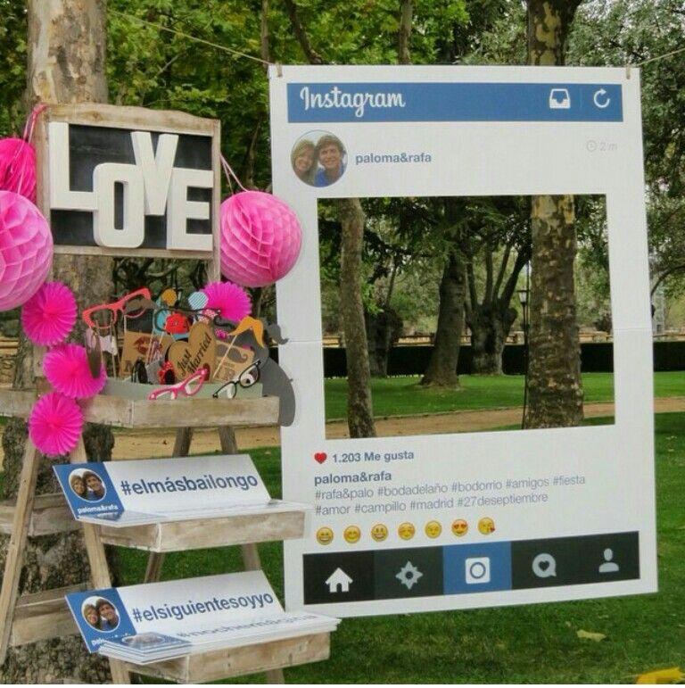 Instagram photocall detalles de boda pinterest - Decoracion de photocall ...