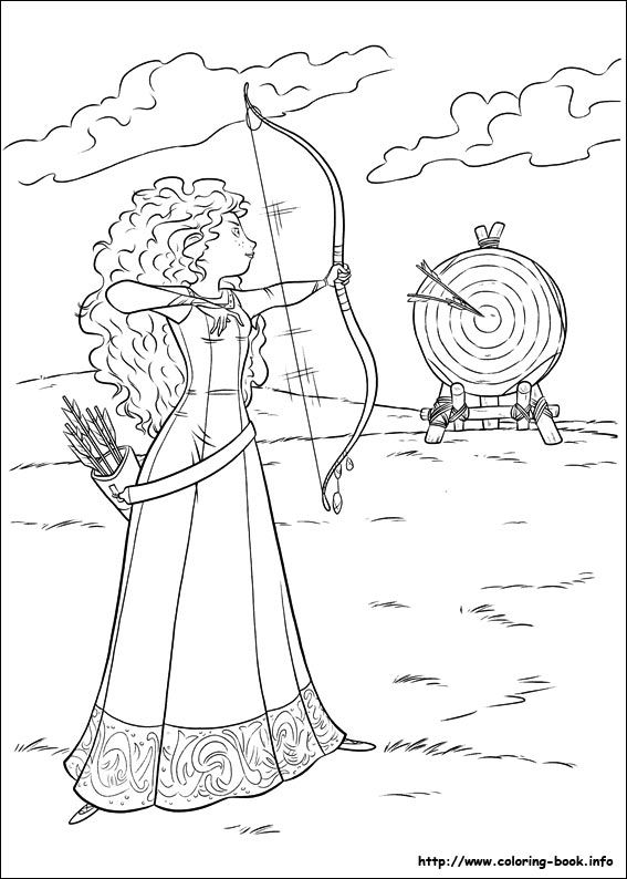 Brave Printable Coloring Pages