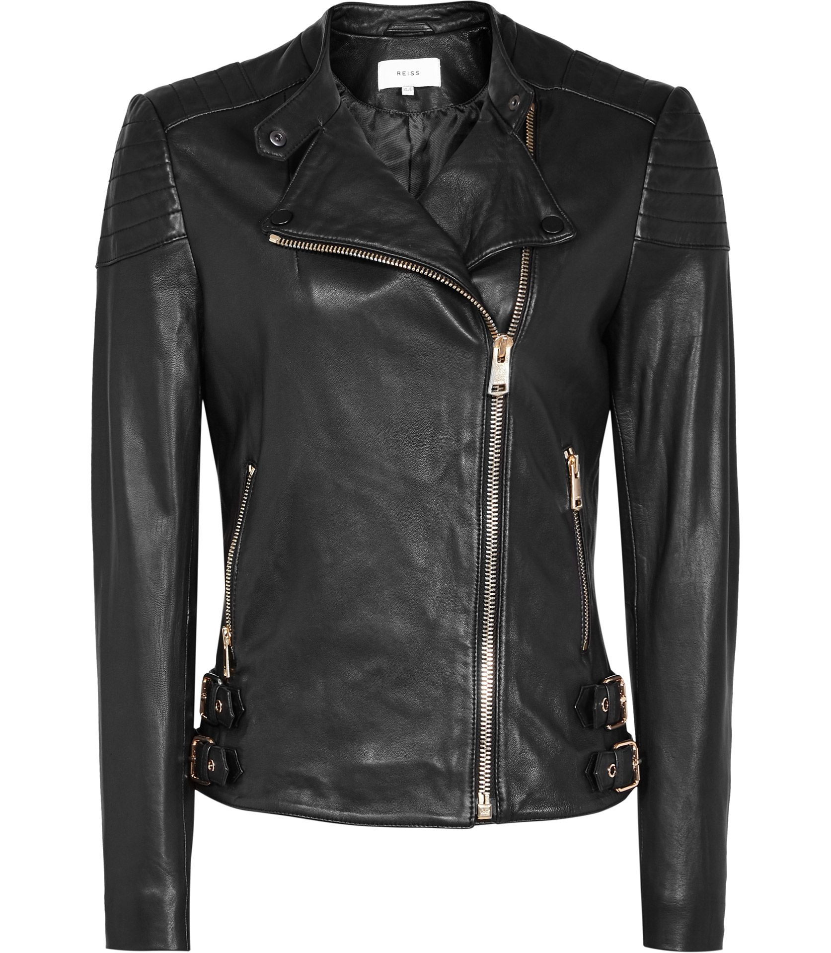 Womens Black Leather Biker Jacket Reiss Shelby Leather Jackets Women Leather Jacket Fashion [ 1918 x 1673 Pixel ]
