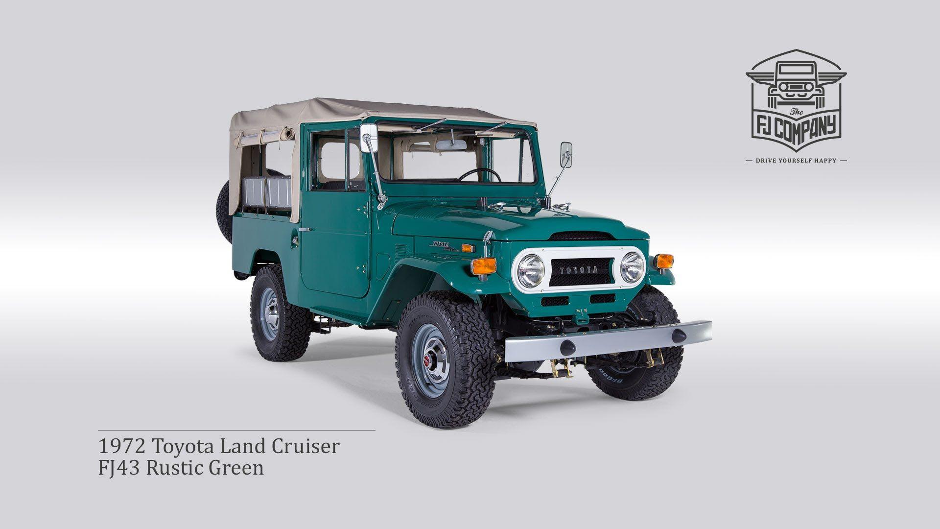 Resultado De Imagem Para Toyota Industrial Factory Oldest T 1973 Fj55 Land Cruiser 1972 Fj43 Rustic Green Fhd