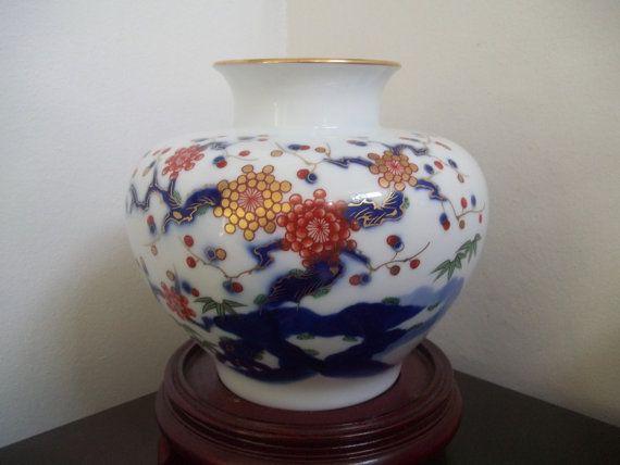 Fukagawa Ume Plum Vase 4 Large Somenishiki Kakiemon Apricot