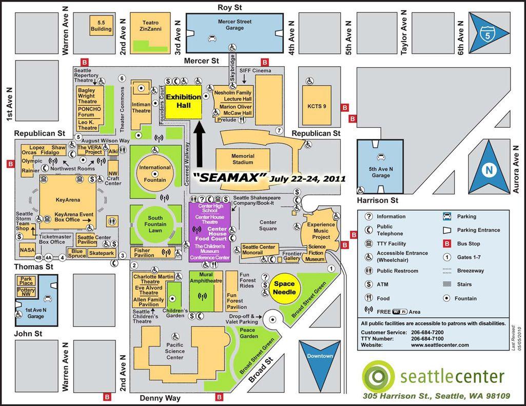 Seattle Center Map Seattle Ferry Seattle Rain Seattle