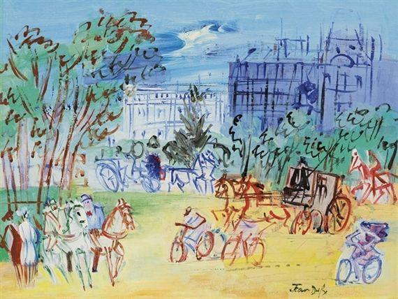 Jean Dufy Avenue Du Bois De Boulogne 1948 Oil With Images