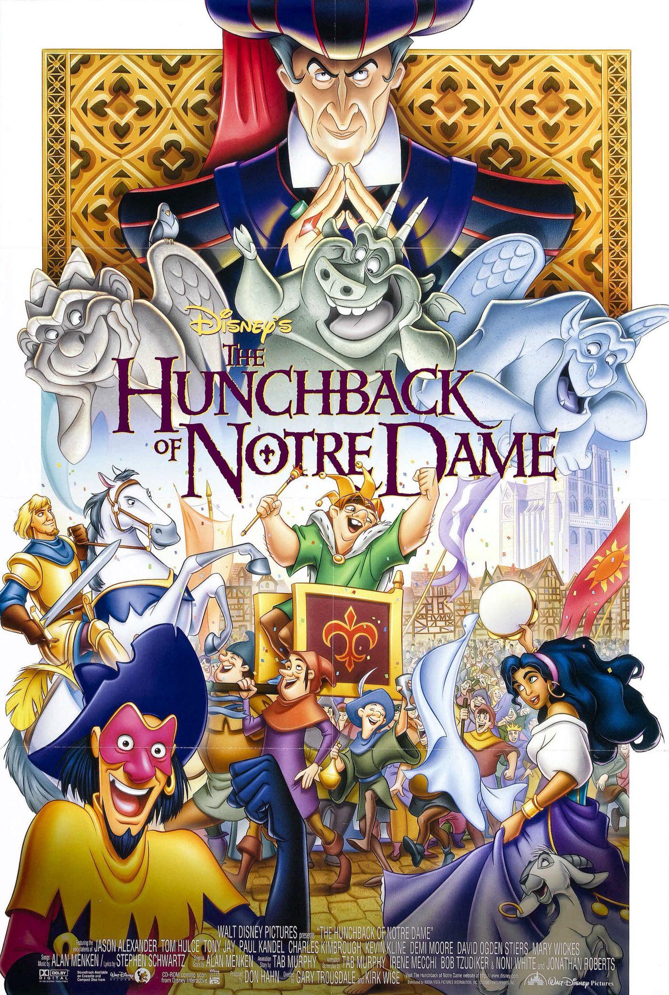 El Jorobado De Notre Dame Kirk Wise Y Gary Triusdale 1996 Con Las Voces De Tom Hulce Demi Disney Movie Posters Disney Posters Walt Disney Animated Movies