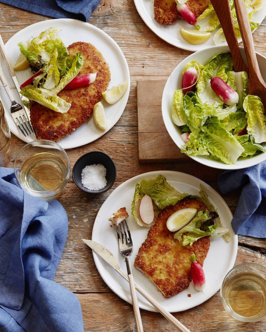 Crispy Chicken Schnitzel with all the parranocheese is on