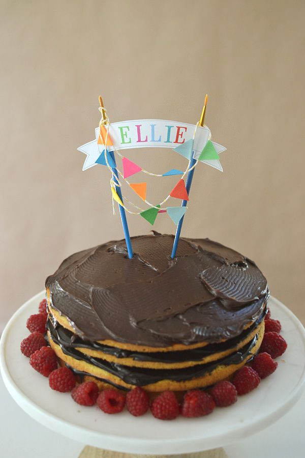 DIY cake topper with free template Diy cake topper Cake and