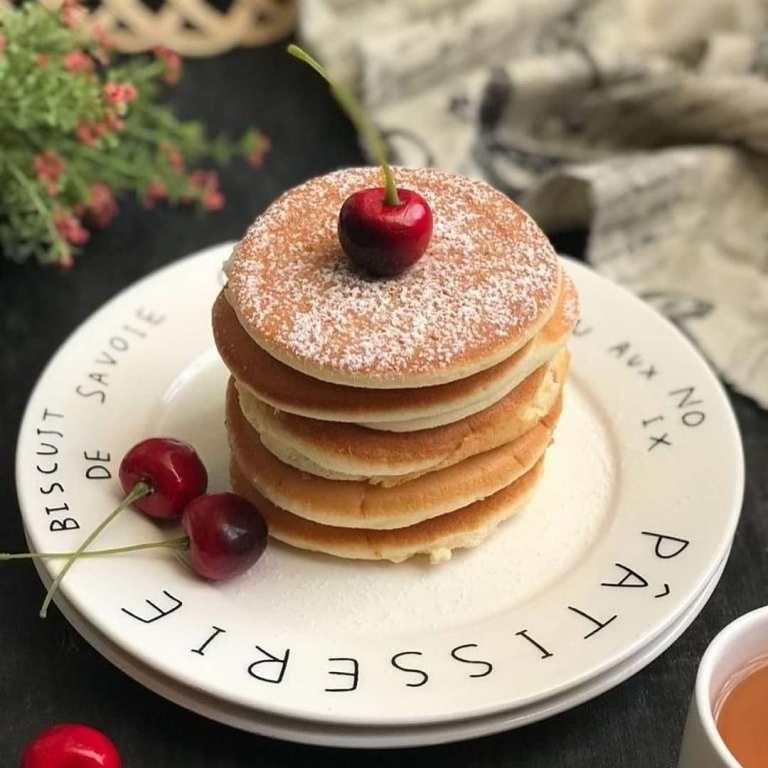 Resep Enak Fluffy Pancake Buat Sikecil Makanan Manis Makanan Makanan Dan Minuman