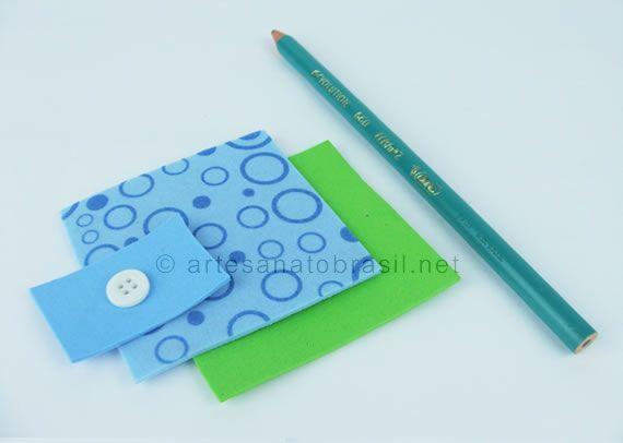 Materiais para ponteira de lápis eva