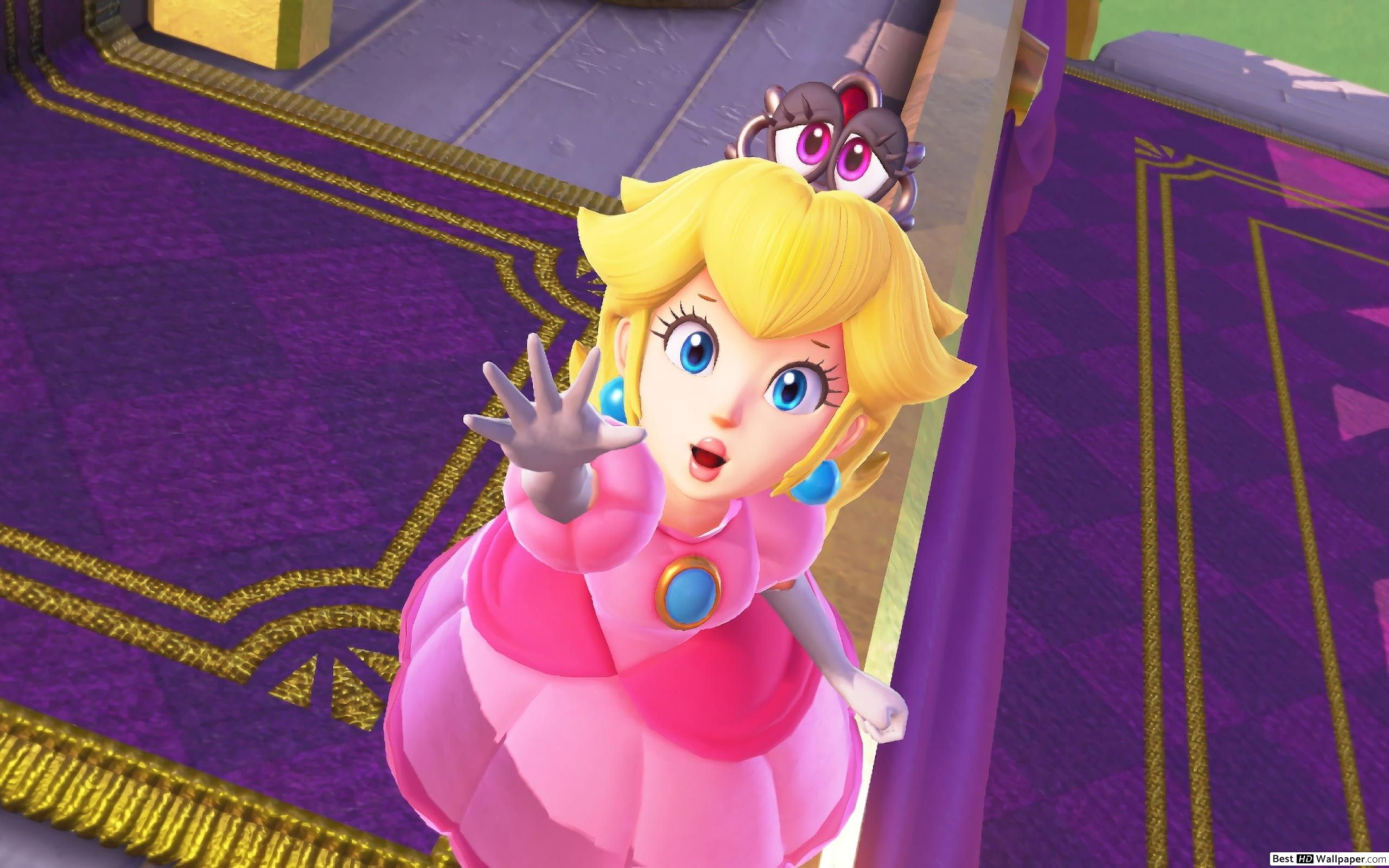 Bowsette Wallpaper Awesome Super Mario Odyssey Princess Peach Wallpaper Princess Peach Peach Wallpaper Peach Mario