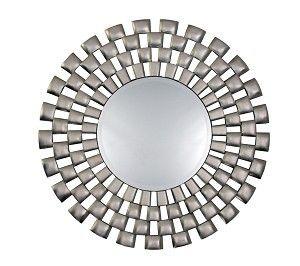 Round checquerboard silver mirror