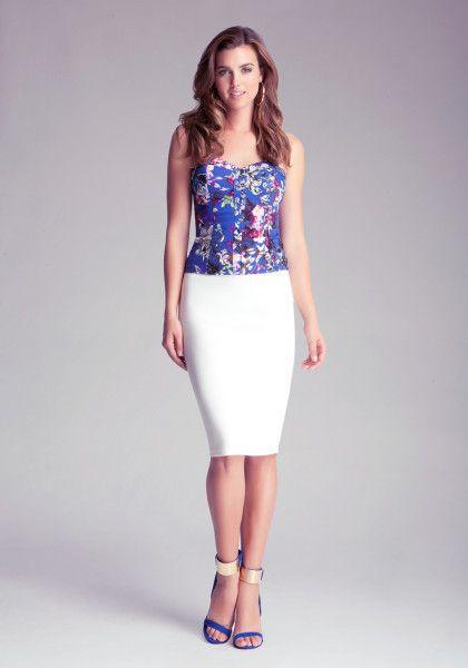 98bdd1ae27 Women's White Midi Knit Skirt   Fashion   Knit skirt, Skirts, White ...
