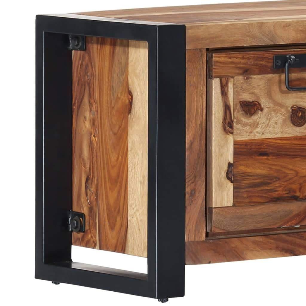 Vida Shoe Cabinet 120x35x40 Cm Solid Sheesham Wood