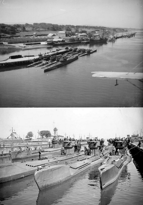 German U Boats Surrender At Lisahally Near Londonderry Northern Ireland 24