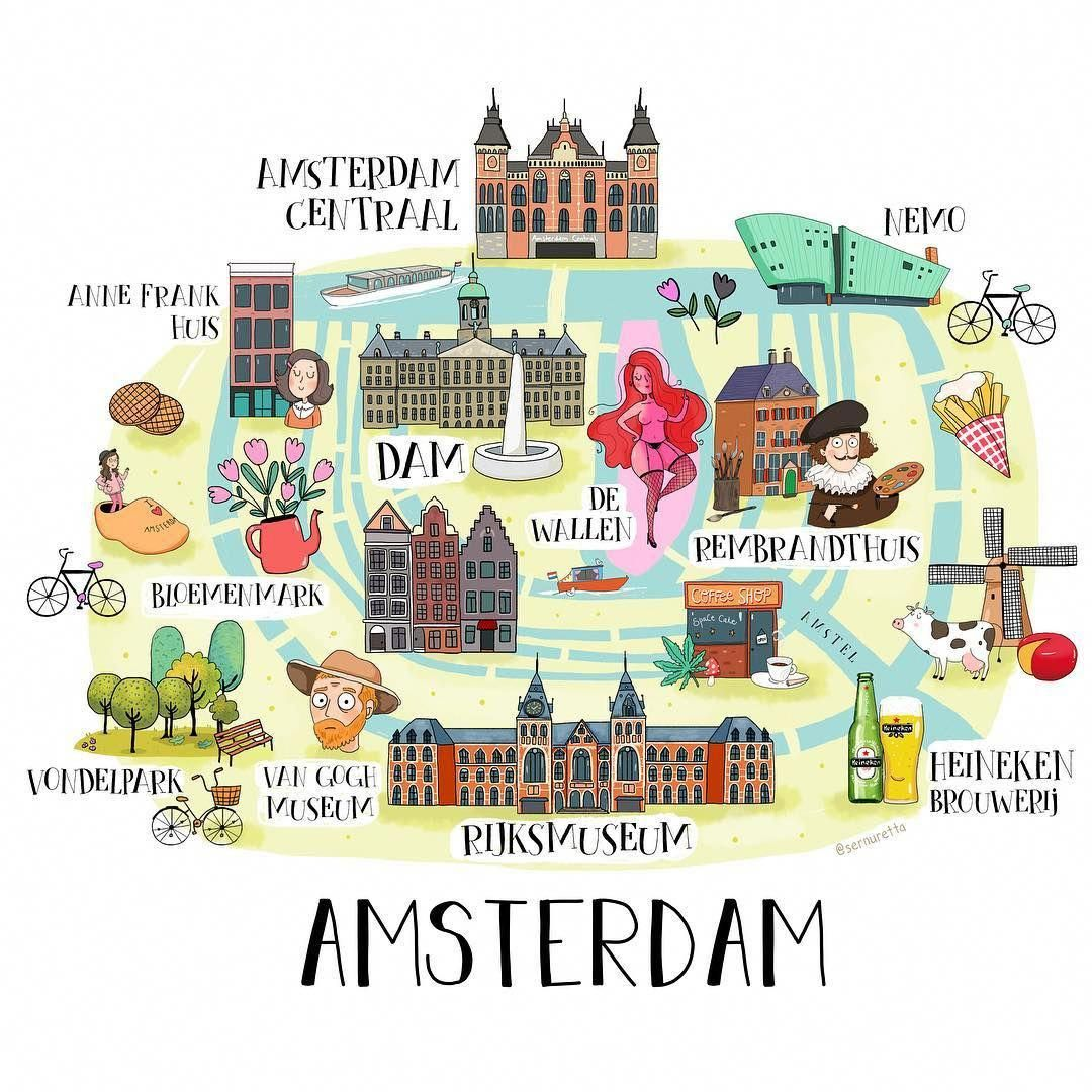 Situated In The Heart Of The Bustling Shopping And Business Center Opposite The Significant Train Station Of Amsterdam Karte Amsterdam Reise Amsterdam Urlaub