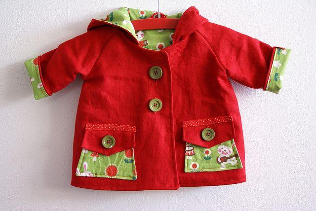 baby coat free sewing pattern - Buscar con Google | Beba (abrigos y ...