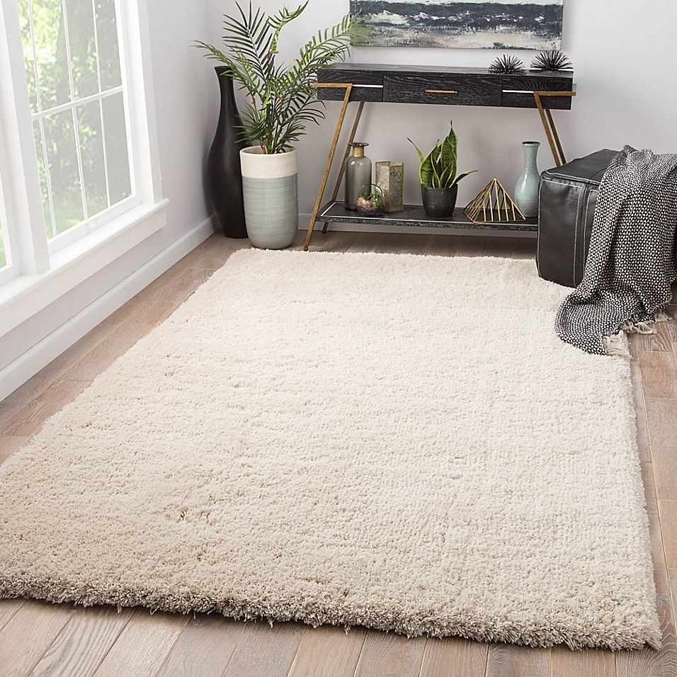Jaipur Manatee Shag 2' X 3' Accent Rug In Cream - The Jaipur Manatee Shag Rug will make a warm and inviting addition to any contemporary space in your homehome. This rug features a plush solid-color shag design, and is constructed to last for years to come.