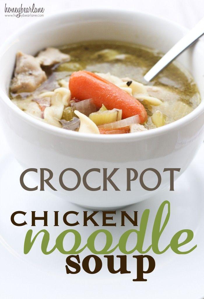 Crockpot Chicken Noodle Soup Chicken Noodle Soup Crock Pot Recipes Crockpot Dishes