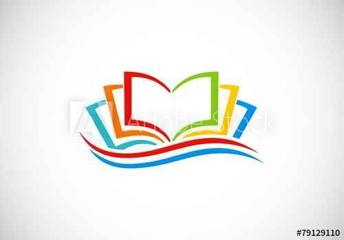 Books Colorful Abstract Vector Logo With Images Education Logo