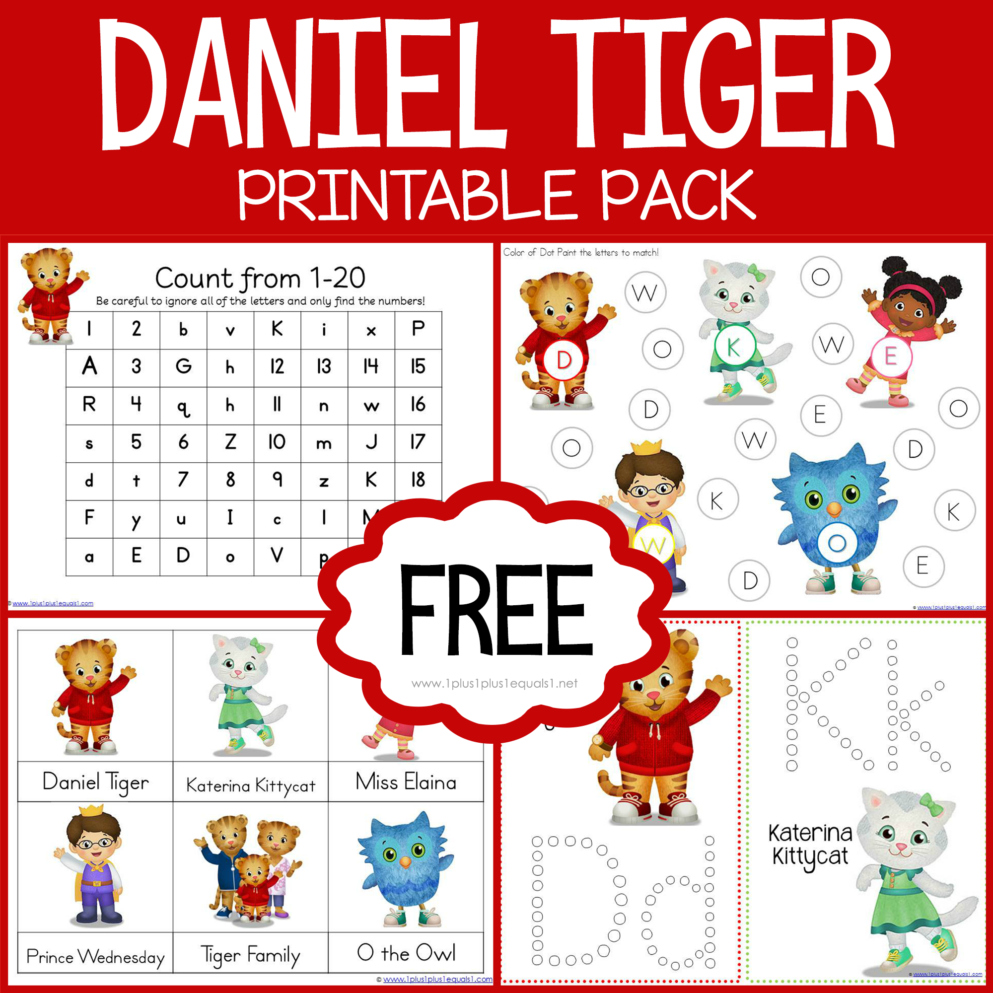 Free Daniel Tiger Printables Loads Of Other Themes Also