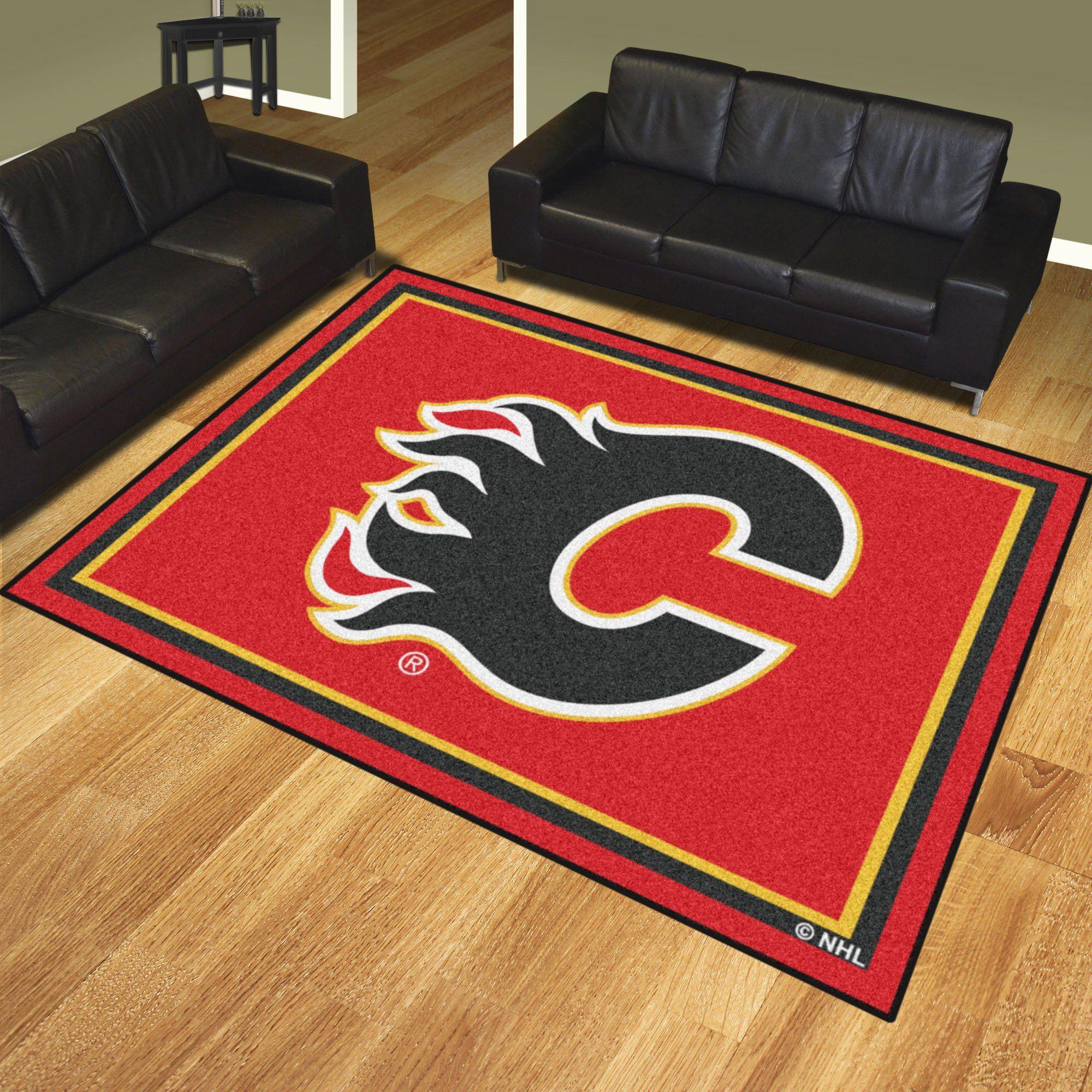 Nhl Calgary Flames 8 X10 Rug In 2020