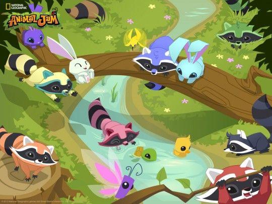 Animal Jam Wallpaper Raccoons And Bunnies Animal Jam Animal Jam Play Wild Animals