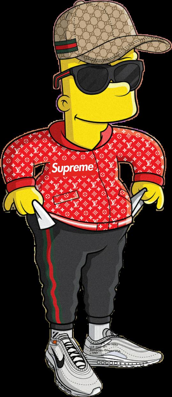 #freetoedit#Bart #Simpson #Supreme #gucci #sunglasses #rich #trap #luisvuitton #simpsons # ...