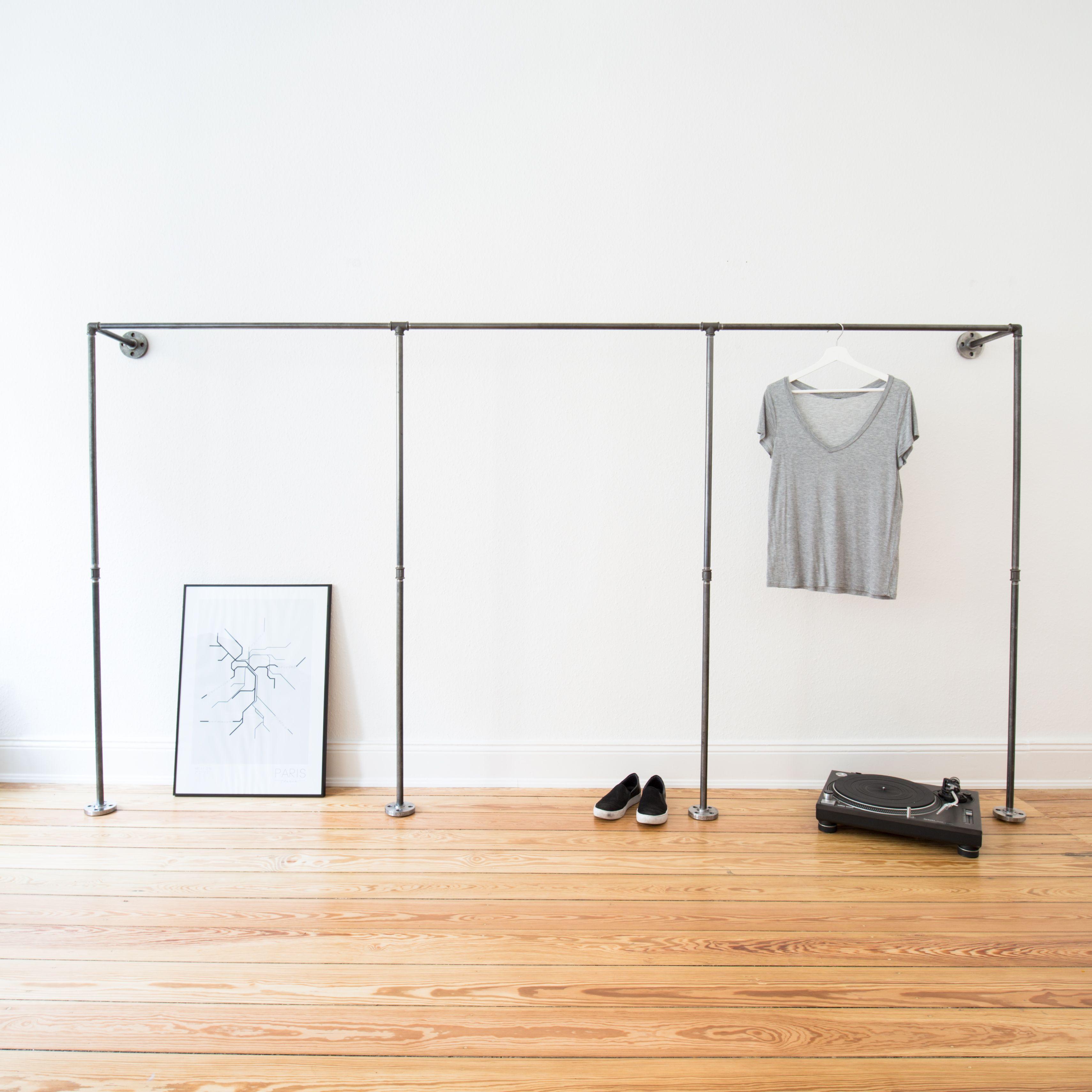 Offener Kleiderschrank · Kleiderstange · Garderobe · Industrial ...