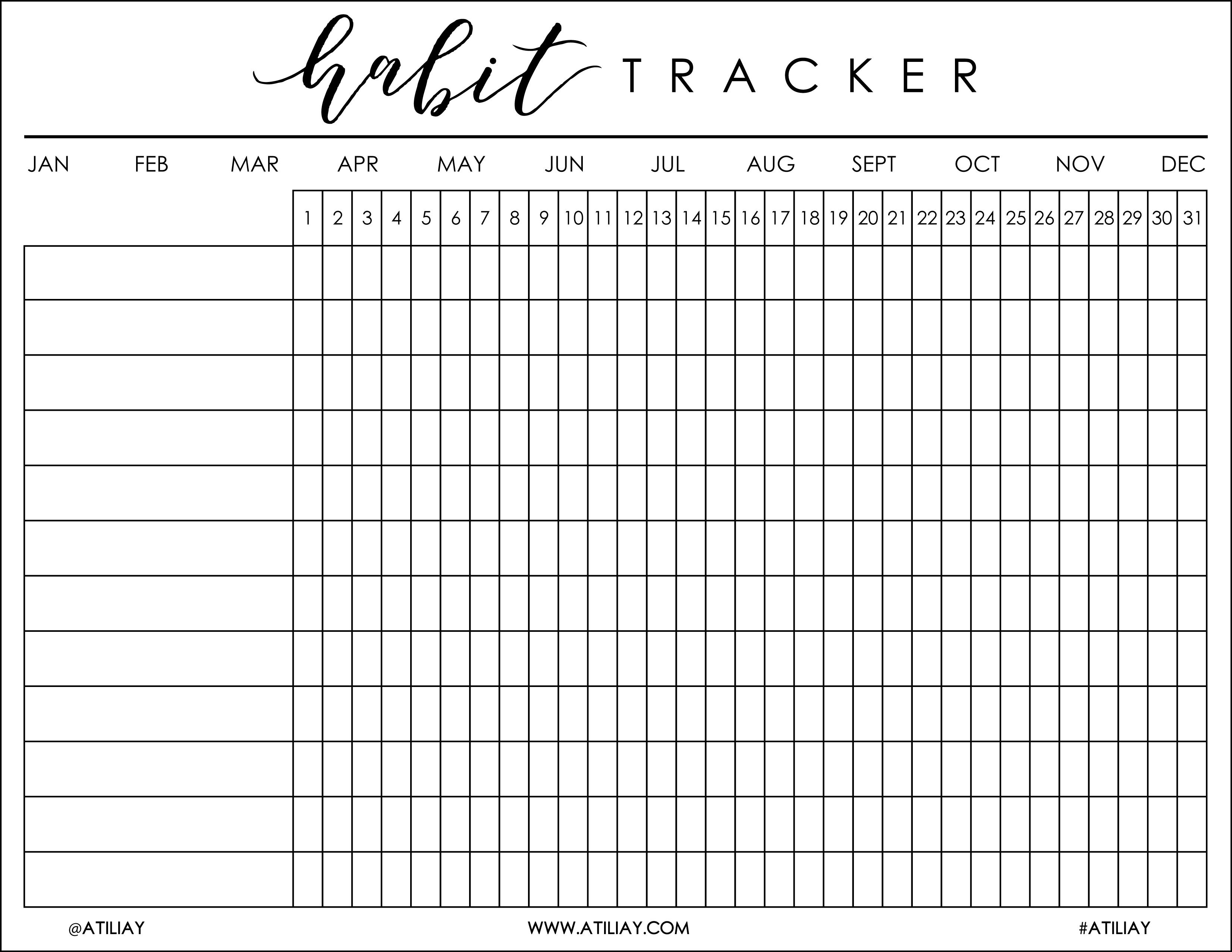 Refreshing image intended for habit tracker free printable