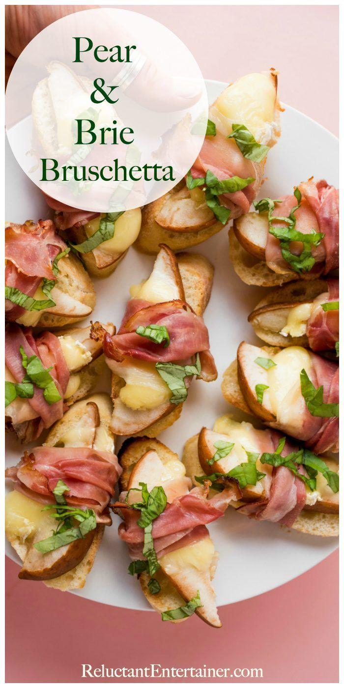 Pear Brie Bruschetta Recipe