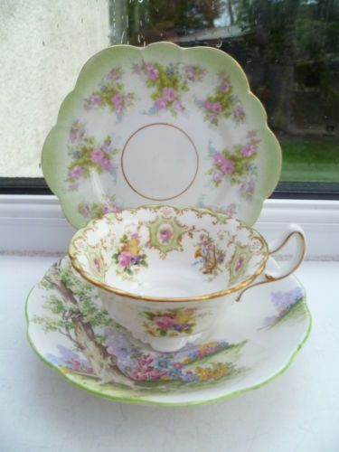Vintage Mix  Match China Trio Tea Cup Saucer Plate Royal Albert Doulton