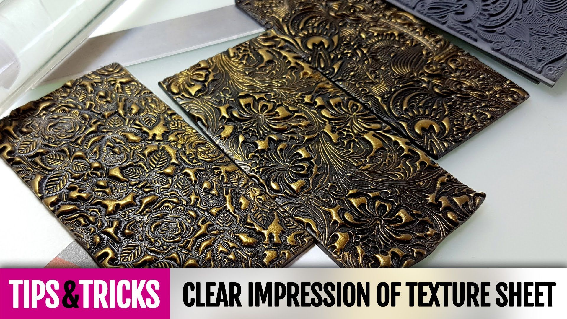 Tips&Tricks | Tip #2 How to make clear impression on polymer clay with t...