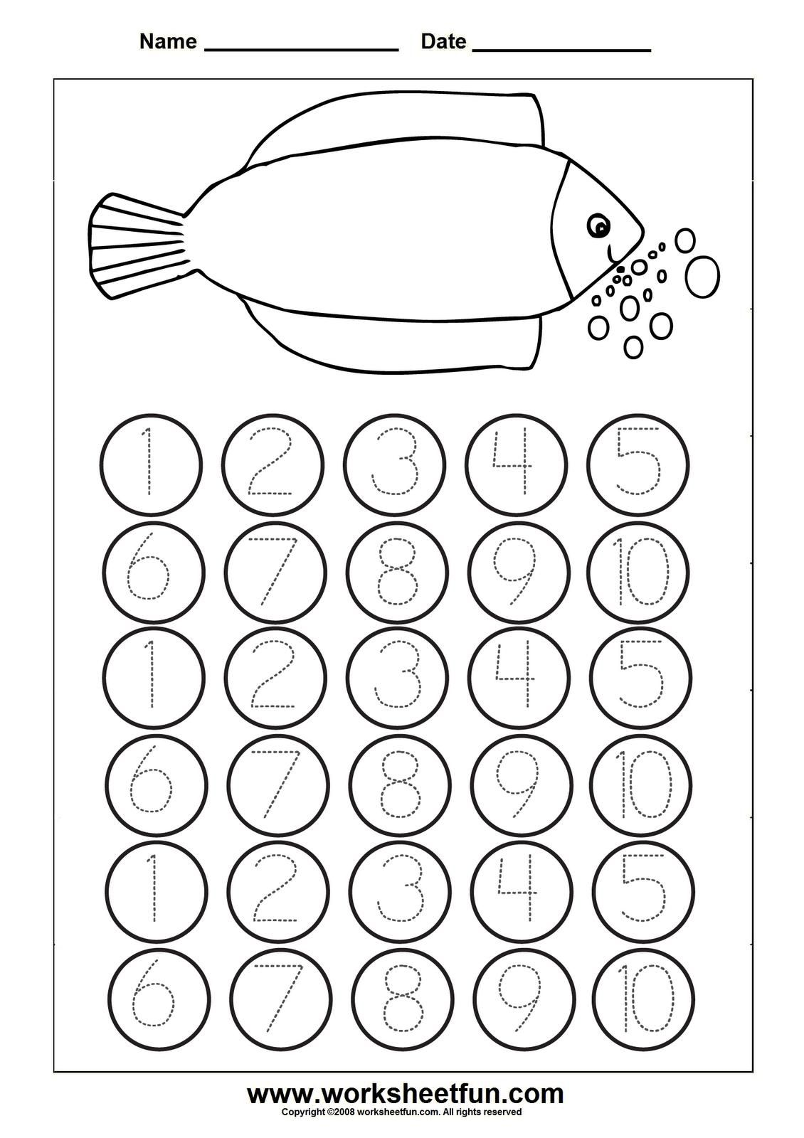 Free Printable Math Worksheets Pre K In