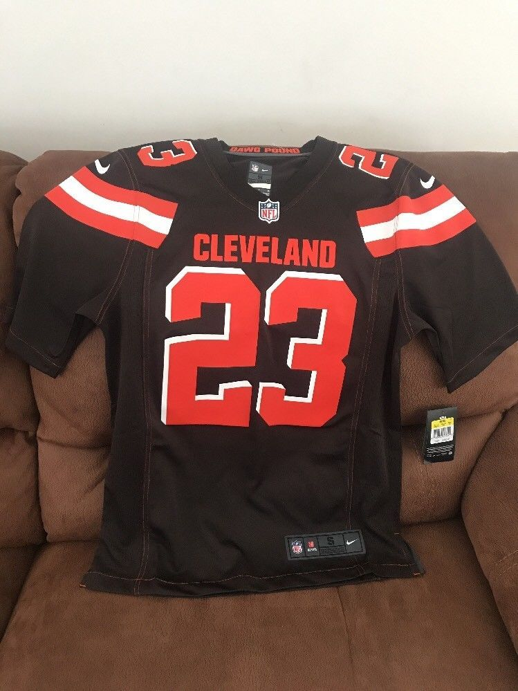 Cheap Cleveland Browns Nike NWT Joe Haden #23 Football Jersey Size Small  for sale
