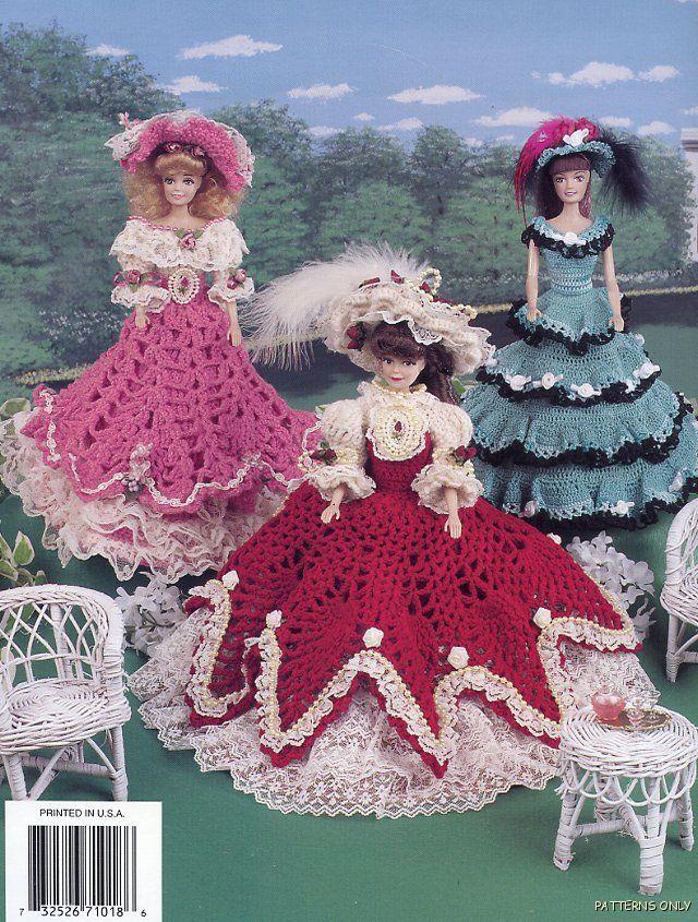 barbie+crochet+ball+gown+patterns+free   CROCHET PATTERNS FOR ...