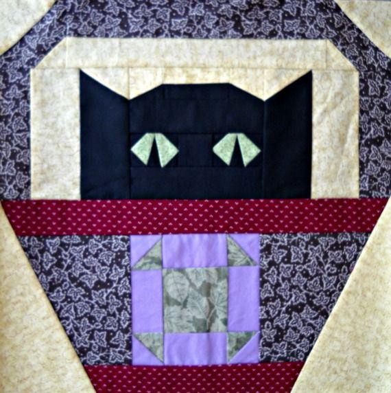 Shoo-Fly Cat Quilt Block