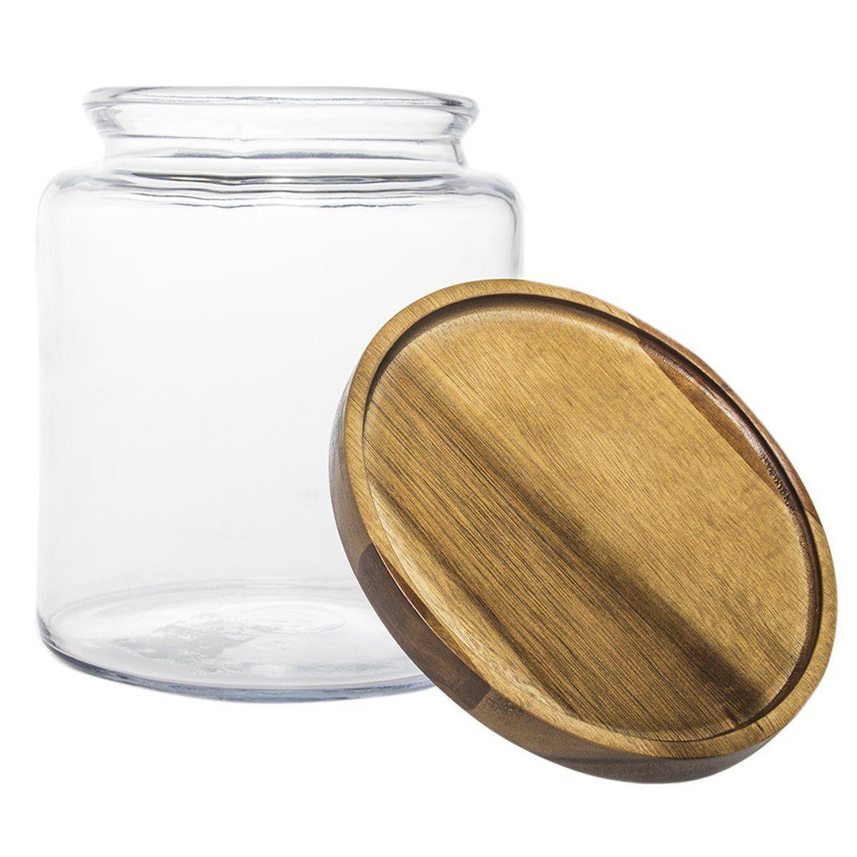Amazon.com: Anchor Hocking (2 Pack) 96oz Clear Glass Storage Jars ...