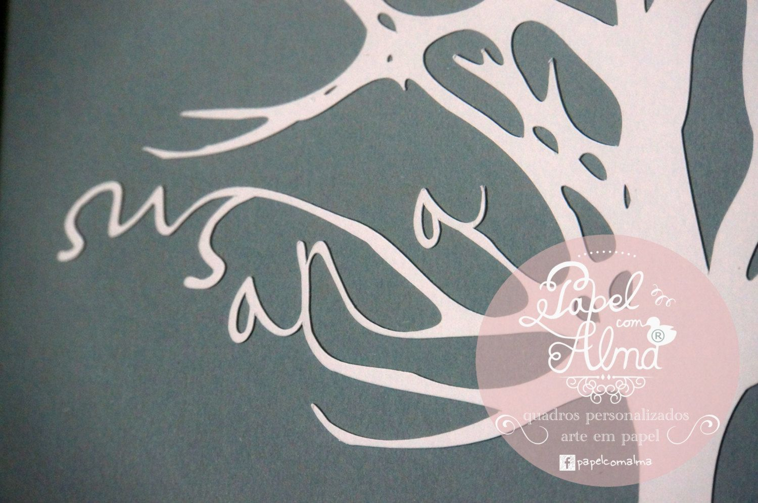 Family Tree personalized paper cut up to 6 names by PapelComAlma