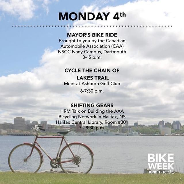 Today In Hfxbikeweek Action Monday Mayors Bike Ride Nscc Ivany