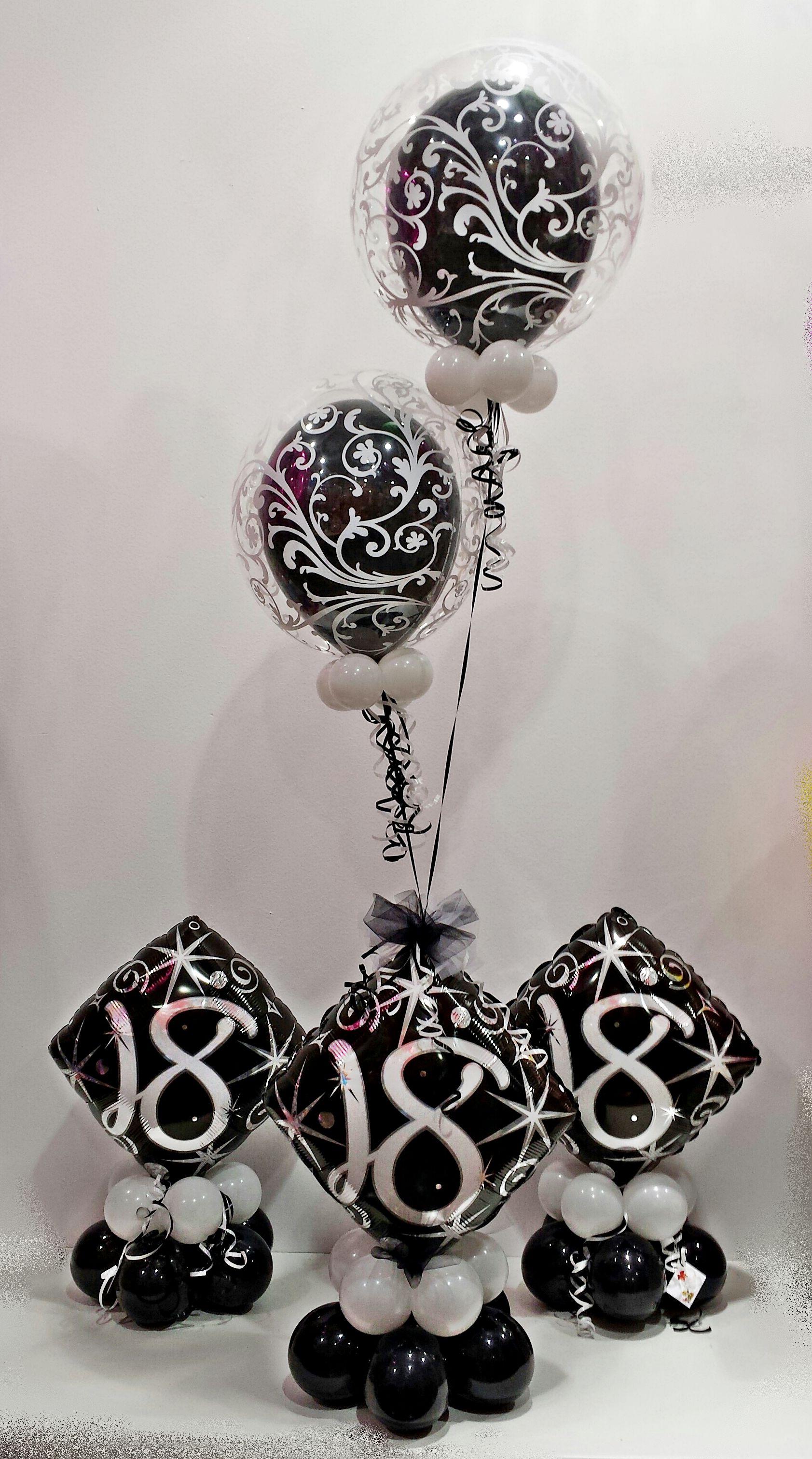 Decoracion para un fant stico 18 aniversario jugamos con for Idea deco en blanco y negro