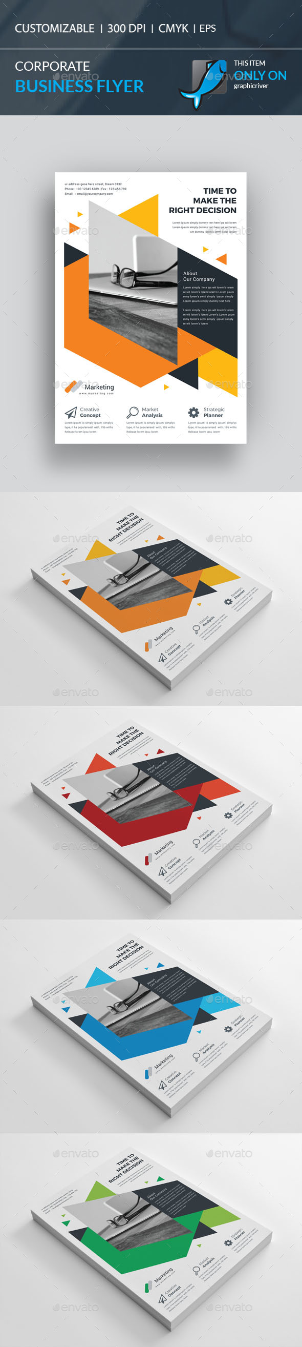 Corporate Flyer Template Vector EPS, AI Illustrator. Download here ...