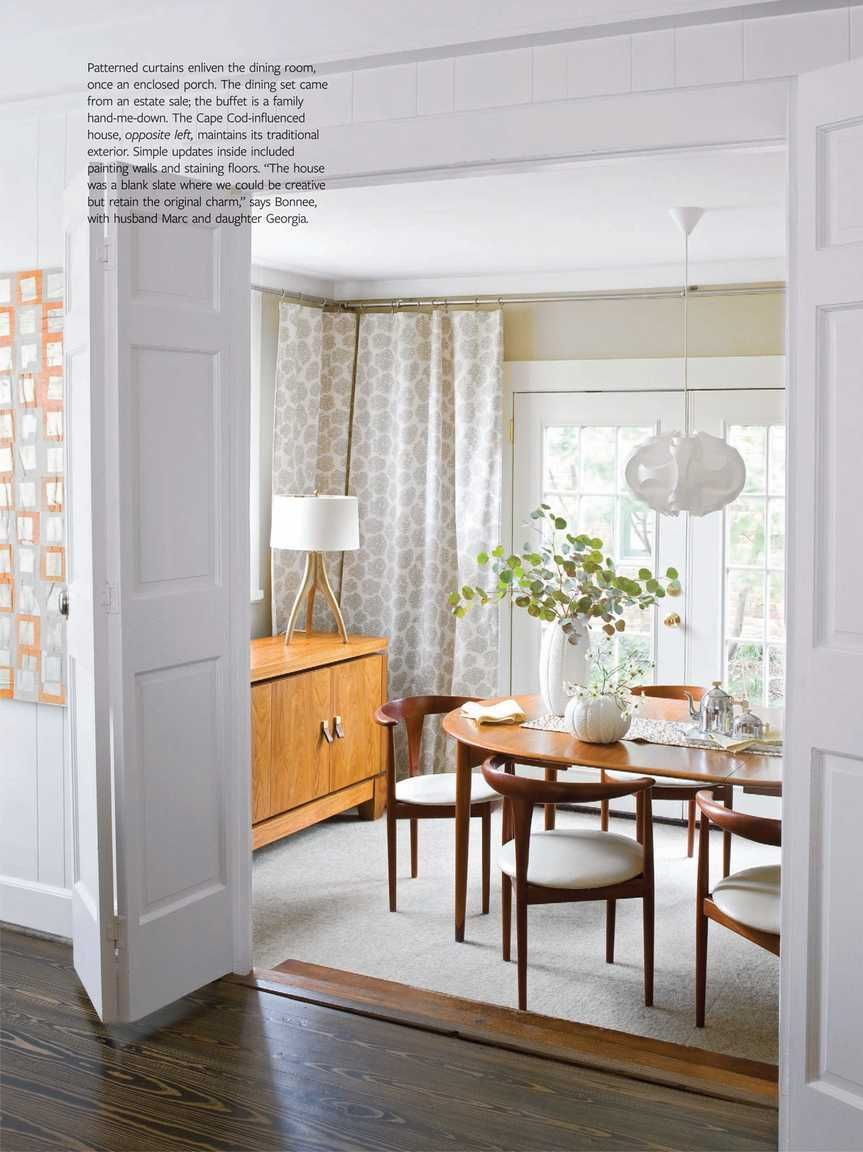 Mid Century Modern Dining Room W French Door Will Be More Open Than
