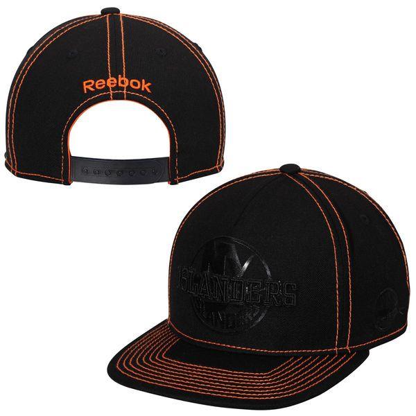 0525d9de8f2 Mens New York Islanders Reebok Black Cross Check Snapback Hat ...