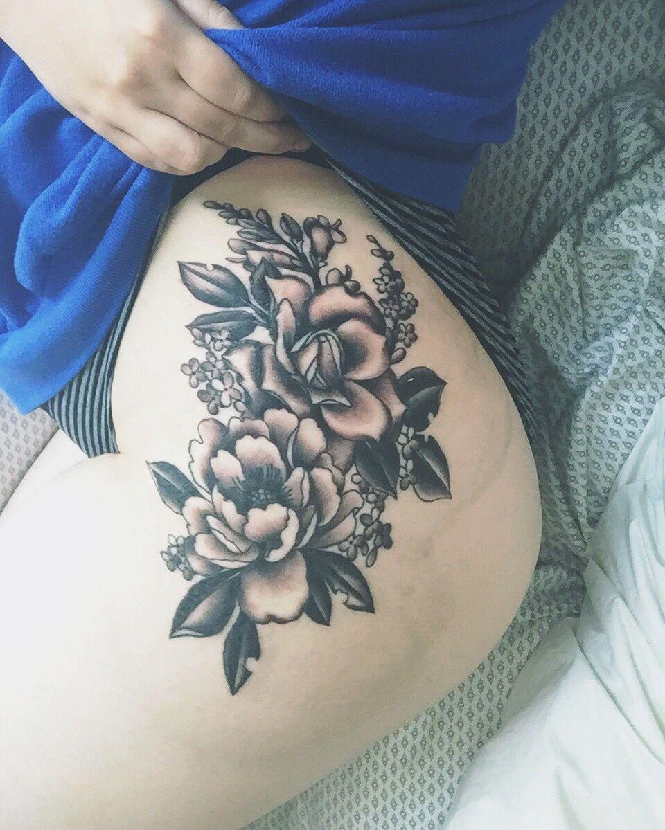 Floral hip tattoo - Megan Mac Wheeler - Mercy Seat Tattoo ...